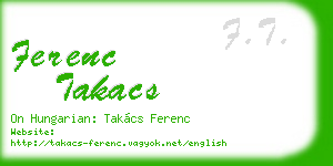 ferenc takacs business card